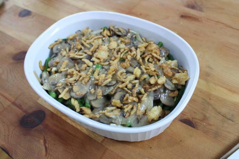 assembled green bean casserole