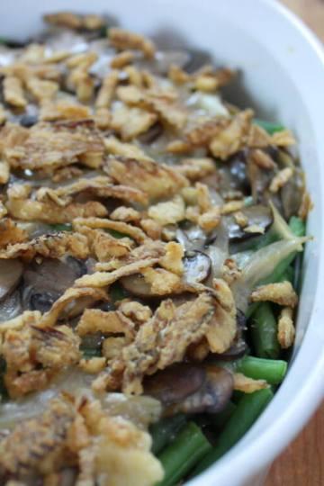 plant based green bean casserole