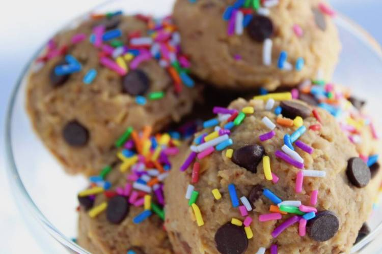 edible cookie dough with sprinkles