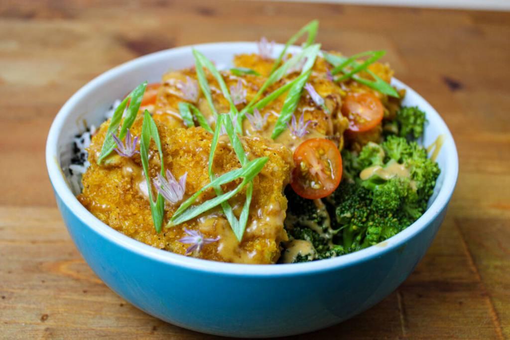 tofu katsu bowl