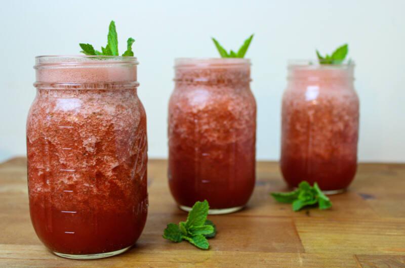 Watermelon Agua Fresca with Mint