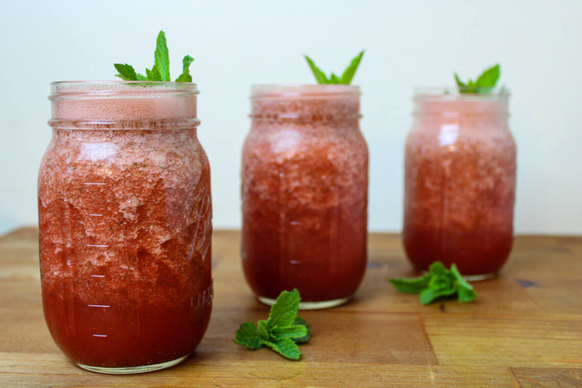 Watermelon Agua Fresca with Mint