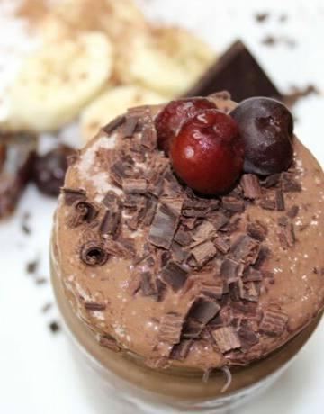 chocolate cherry vegan frosty