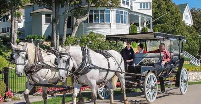 horse carriage Mackinac Island