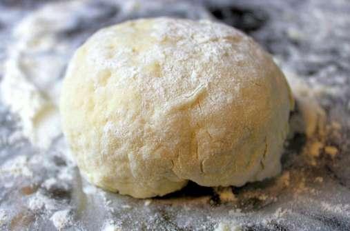 forming tortilla dough into ball 2