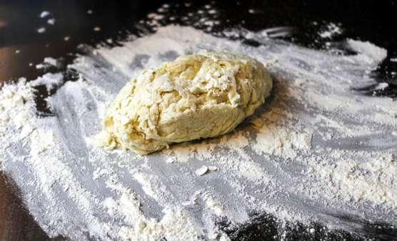 kneading tortilla dough