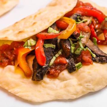 Vegan Portobello Fajitas