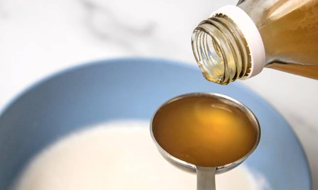 Apple cider vinegar for vegan butter milk