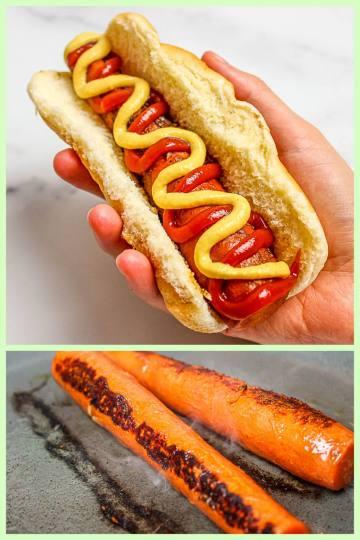 vegan carrot hot dogs