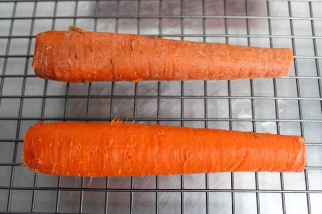 peeled vs unpeeled carrots