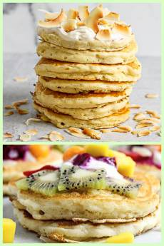 Fluffy Coconut Vegan Pancakes