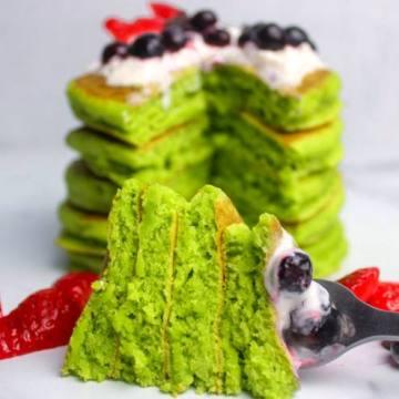 vegan spinach green pancakes