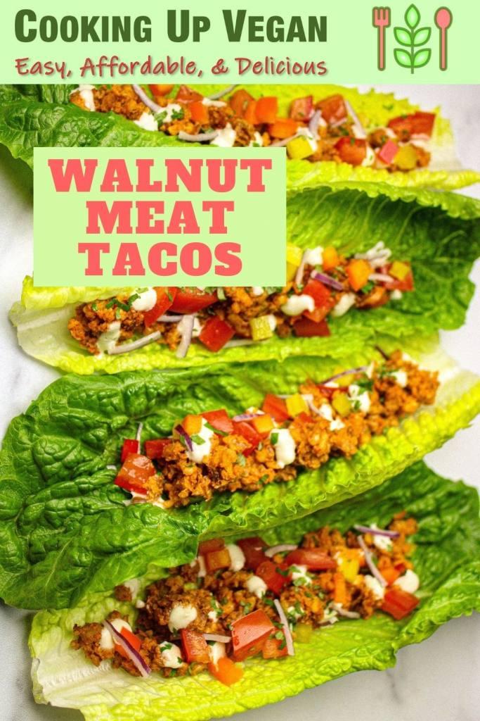 walnut meat tacos in romaine leaves recipe