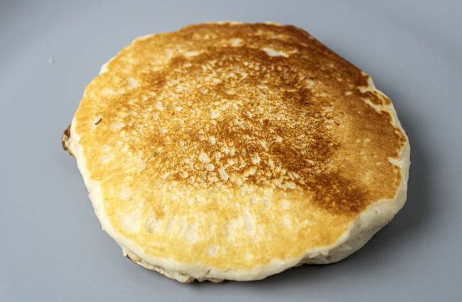 golden vegan pancake