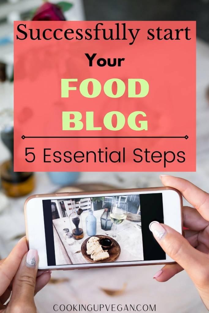 start food blog in 5 steps