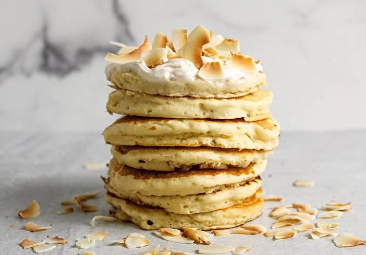 Fluffy Vegan Coconut Pancakes