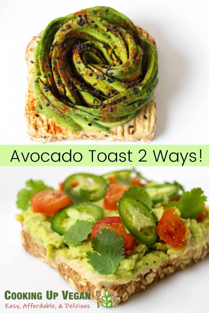 avocado toast 2 ways