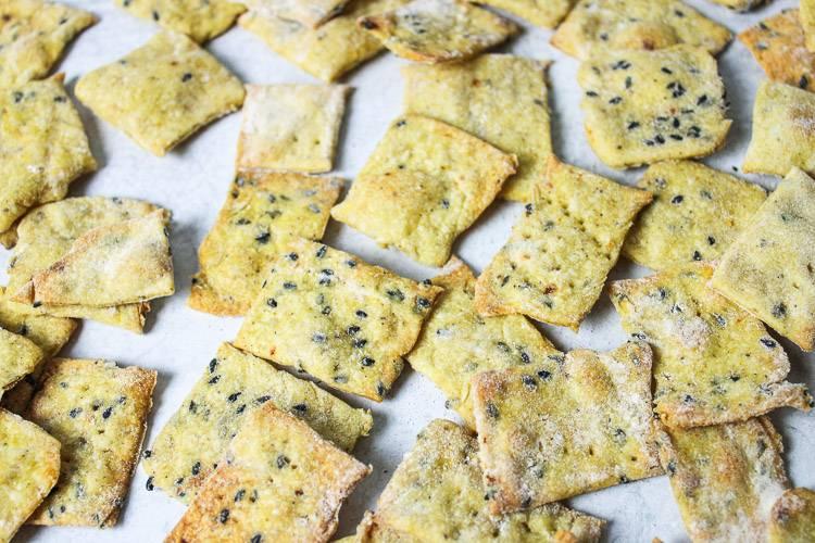 Crispy Sesame Crackers